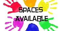 Childcare spaces available!