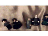 a set of harry potter lego minifigures