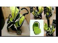 Oyster max double pushchair with Car seat