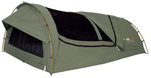 OZTRAIL MITCHELL DOUBLE Canvas Swag / Alloy Poles *NEW*