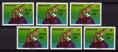 Belgisch Congo Belge - Rep. du Zaïre n° 837/842 MNH Leopard WC Soccer c9.00Eu
