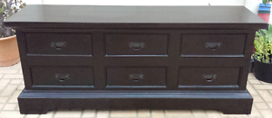 BALINESE BUFFET SOLID WOOD, DARK STAIN, VGC! Greenslopes Brisbane South West Preview