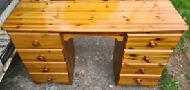 Solid pine dresser , chest of drawers & 2 bedside cabinets