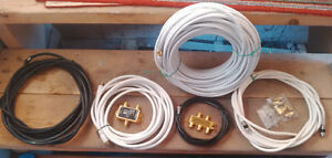 Coaxial cable 100' & various, HD Switches, Splitter, couplers,