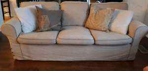 IKEA EKTORP sofa couch with slip cover