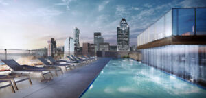 4 1/2 Brand new unit in downtown Montreal