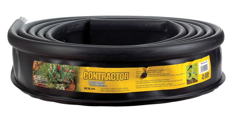 Master Mark  Master Gardener Pro  20 ft. L x 5 in. H Black  Plastic  Lawn Edging
