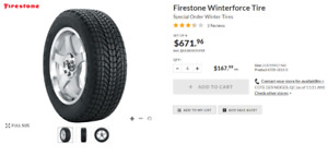 215-55-17 Pneus D'hiver NEUFS Firestone Winterforce Winter Tires