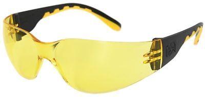 Cat Track Safety Glasses Black Frame Yellow Lens Ansi Z87