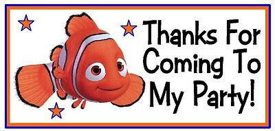 20 Finding Nemo Birthday Party Or Baby Shower Thank You Stickers Labels Favors](Finding Nemo Baby Shower)