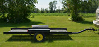 "3' 3"" x 7' 6"" ALL STEEL UTILITY BIKE LANDSCAPE YARD TRAILER"