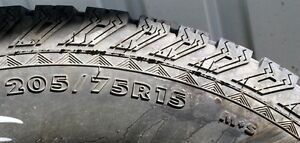 Set of THREE  All Season M&S 15 inch tires Comox / Courtenay / Cumberland Comox Valley Area image 5