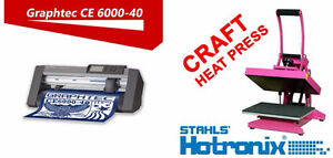 "GRAPHTEC 15"" VINYL CUTTER + Hotronix Craft Heat Press Transfer"