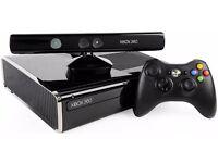 Xbox 360 slim 250G HDD Inc Kinect sensor and over 20 games