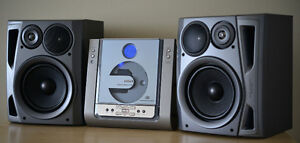 PHILIPS CD Player w. tuner + AIWA speakers = GREAT SOUND !