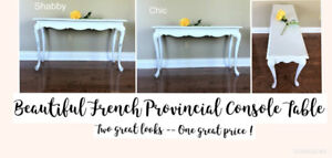 BEAUTIFUL FRENCH PROVINCIAL CONSOLE TABLE