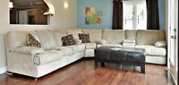 Huge sectional couch with recliner seats and Chaise Lounge