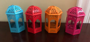 Colourful tealight holders for sale!