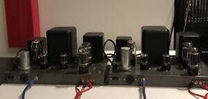 Heathkit W4-AM 6L6 Tube Monoblock Amplifiers