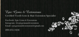 TOOTH GEMS AND HAIR EXTENSIONS