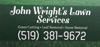 Snow plowing from John Wright's Lawn Services