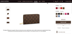 Louis Vuitton - Leather - Zippy Wallet - In Perfect Condition