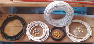 Coaxial cable 100' & various, HD Switches, Splitter, couplers Kitchener / Waterloo Kitchener Area image 1