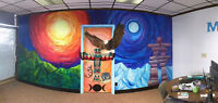 Mural Painting, and Acrylic Canvas Painting