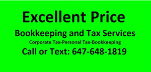 EXCELLENT PRICE: Bookkeeping and Tax Services