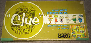 Vintage 1960's Clue Boardgame Canadian Bi-Lingual Instructions