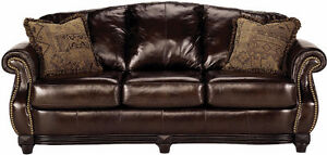 Brand New All Leather Couch, Original Over $2900, Can Delievr