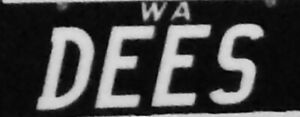 Private number plates - DEES