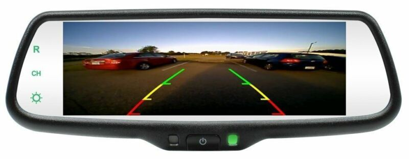 """250-8273 7.3"""" LCD Rear view mirror monitor  3 video inputs"""