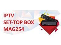 MAG254 I.P.T.V Box 2000 channels+Movies