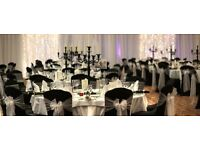 Reception Stage Decoration £299 Gold Table Cloth Rent Throne Rental £199 African Wedding Caterers