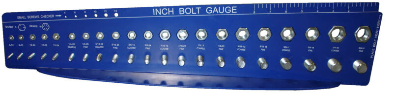 Bolt and Nut Check a Thread Size Fastener Gauge Standard SAE Inch Guage