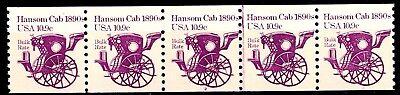 Hansom Cab 1890S Transportation Coil Mnh Pnc5 Plate 2 Scotts 1904           S2