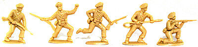 Charbens Recasts - 5 WWII British Paratroops - 60mm unpainted plastic