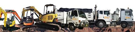 excavator hire and truck hire