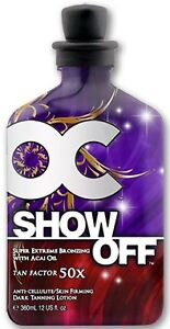 OC Show Off 50X Bronzer Indoor Tanning Bed Acai Lotion