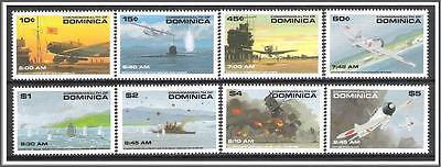 Dominica #1368-1375 Pearl Harbor MNH