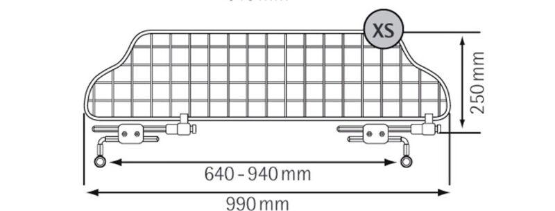 TGN-XS Kleinmetall Traficgard Trenngitter Hundegitter Gepäckgitter Trennnetz
