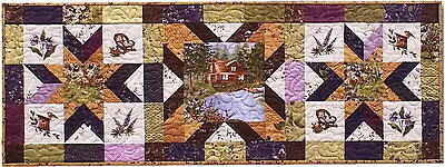 LADY SLIPPER LODGE TableRunner Quilt Kit / Pattern Plus Moda Fabric Holly Taylor for sale  Shipping to India