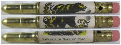 RESTORED Vintage Bullet Pencil - Greeley, Colorado (Bear) EF-1400