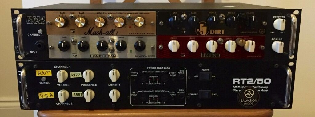 Randall Rm4 Modular Preamp And Rt2 50 Power Amp W