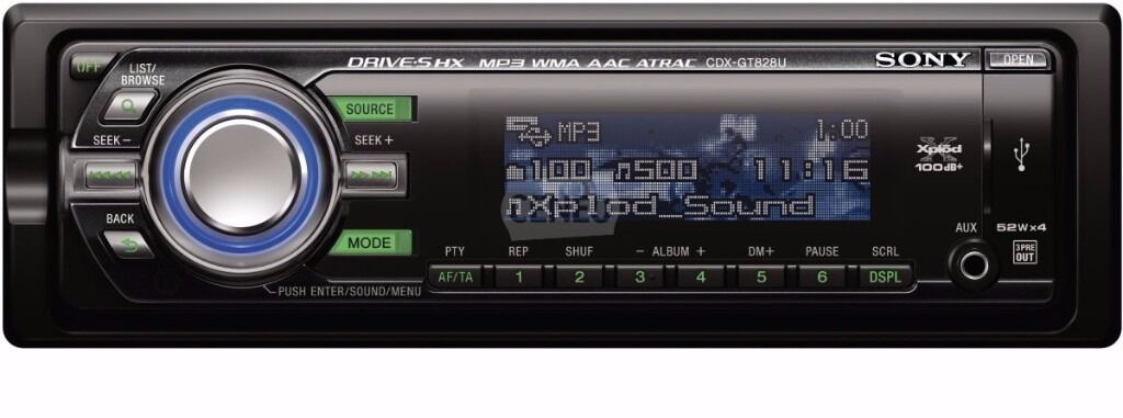 Sony cdx gt828u cd mp3 usb player front usb and aux in in sony cdx gt828u cd mp3 usb player front usb and aux in publicscrutiny Image collections