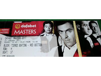 2017 Masters Snooker Semi-final ticket for sale - afternoon session at Ally Pally!