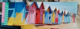 Beach hut canvas