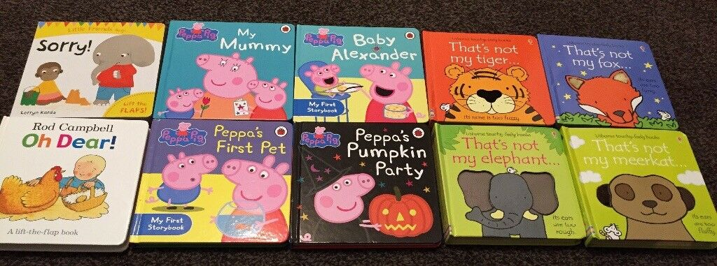 Selection Of Popular Toddler Books In Moortown West Yorkshire