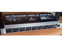 BEHRINGER ULTRAGAIN PRO-8 DIGITAL ADA8000 ADAT Interface x8 ins & outs